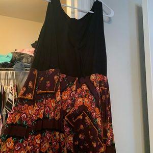 Dress with flowy bottom